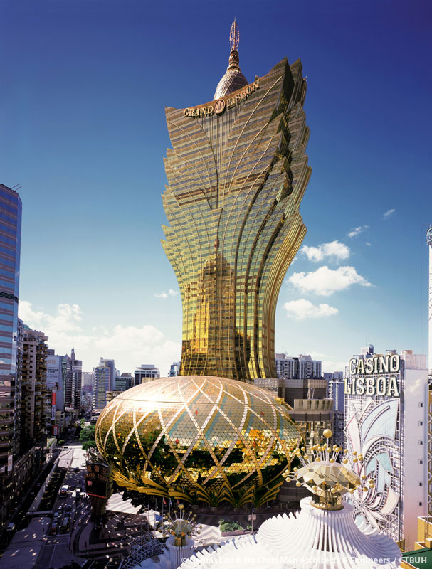 macau with the grand lisboa casino