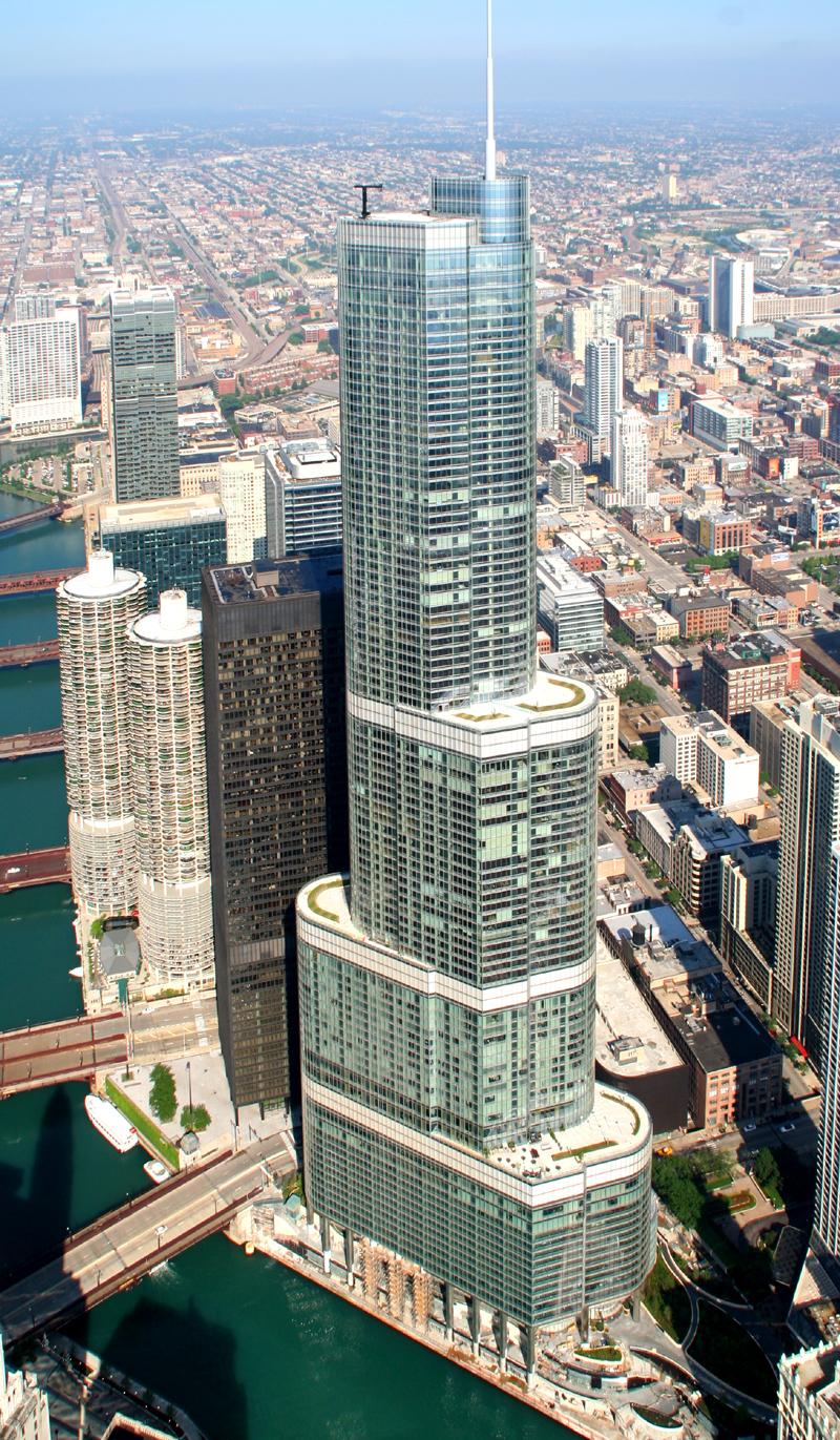 trump tower chicago map Trump International Hotel Tower The Skyscraper Center