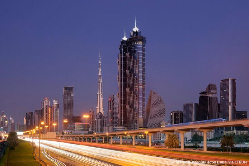 Jw marriott marquis hotel dubai tower 2 the skyscraper for Dubai hotel ranking