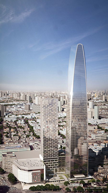 Height: To Tip 338 m / 1,109 ft. Height: Architectural 338 m / 1,109 ft.  Tianjin Modern City ...