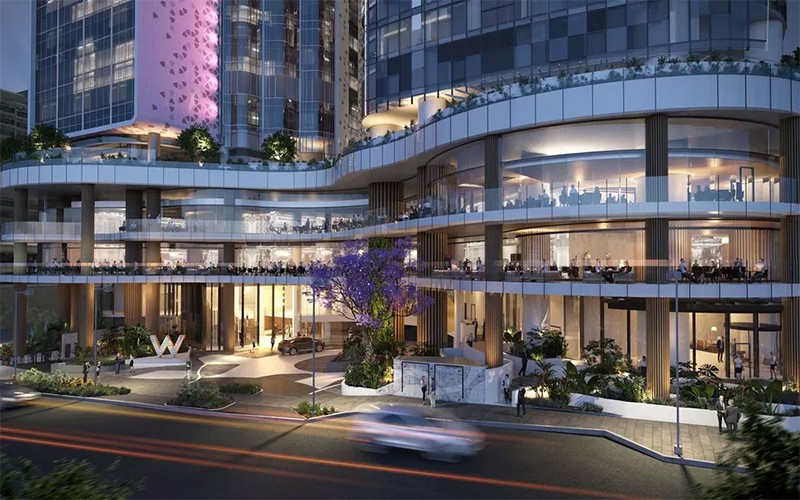 W hotel the skyscraper center for Design hotel queensland