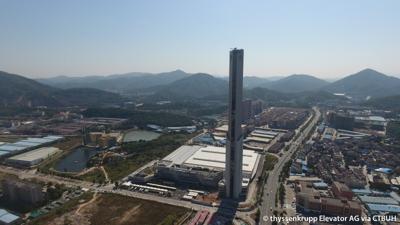 Zhongshan Thyssenkrupp Elevator Laboratory Tower - The Skyscraper Center